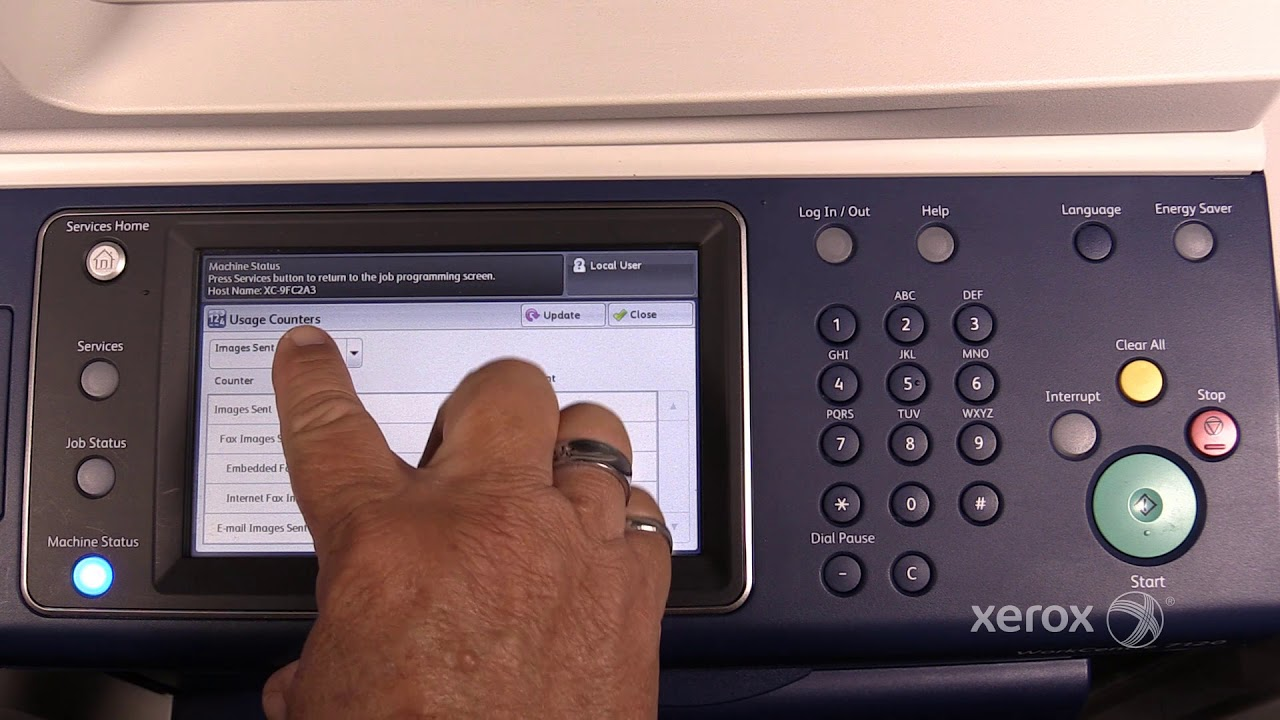 Xerox® WorkCentre® 7120/7220/7225 Accessing Billing Meters