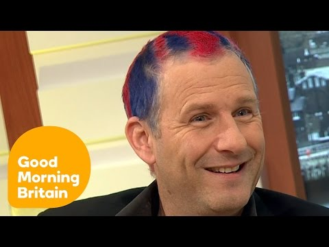 Adam Hills Reveals His Union Jack Hair In Support Of Team GB! | Good Morning Britain