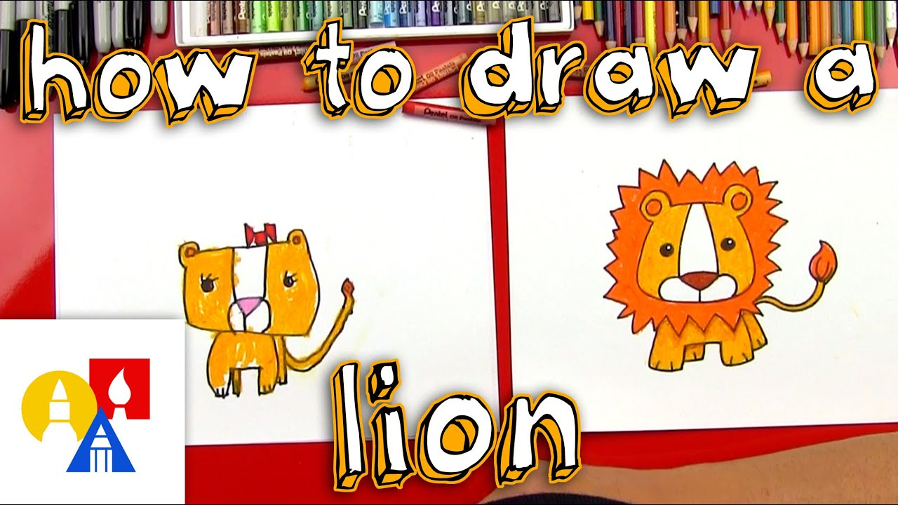 how to draw a cartoon lion youtube