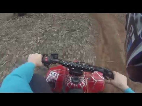 Riding in the woods: Homemade track and really funny crashes