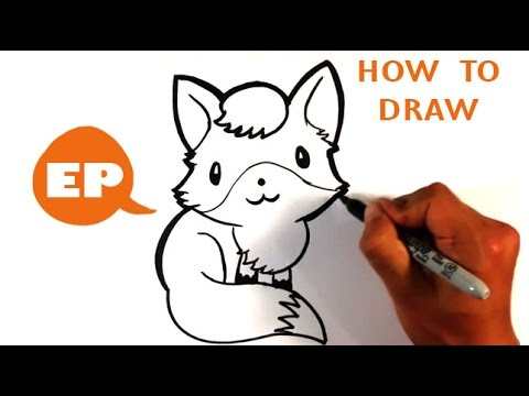 How to Draw a Cute Fox - Easy Pictures to Draw