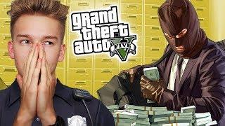 GTA V Policja #16 - NAPAD na BANK!
