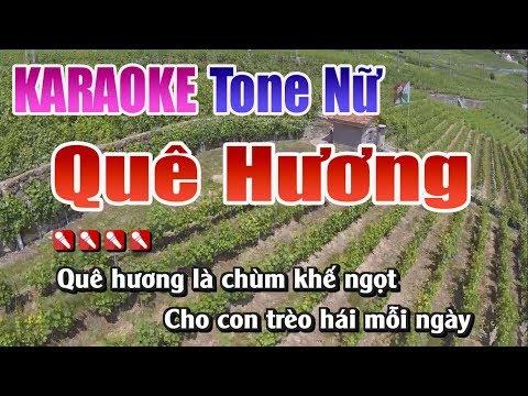 58 -Quê Hương  Tone Nữ - Nhạc Sống Thanh Ngân
