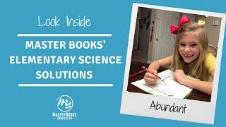 Look Inside Master Books' Elementary Science Homeschool Curriculum Choices