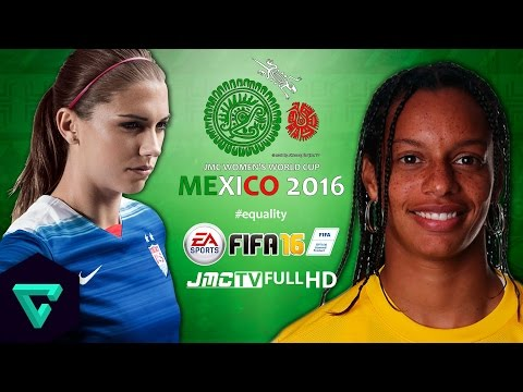 USA vs. Brazil | Final Match | 2016 jmc Women's World Cup Mexico | FIFA 16