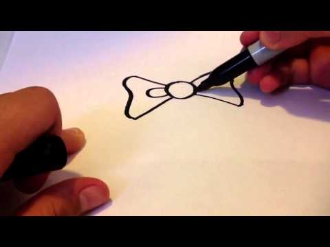 How to draw a bow tie