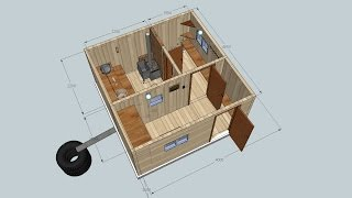 Концепция русской бани 3D, сделано  в SkethUp(Это 3D копия бани из родных мест. Сделал для наглядного примера в SkethUp. Выкладываю для людей планирующих..., 2015-07-12T19:29:57.000Z)