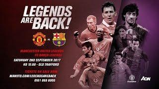 Video Gol Pertandingan Legenda Manchester United vs Legenda FC Barcelona