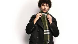 How to tie a Scarf – The Tuxedo Fold, from Burberry