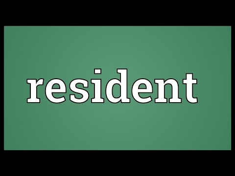 Resident Meaning