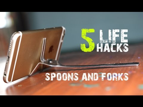 5 Amazing life hacks with Spoons and Forks