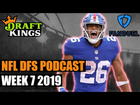 2019 NFL Week 7 DFS Podcast for DraftKings and FanDuel