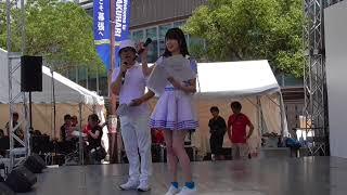 チバテレ 夏祭り 1日目 の前座部分。 吉川七瀬さんと、ドランクドラゴン...