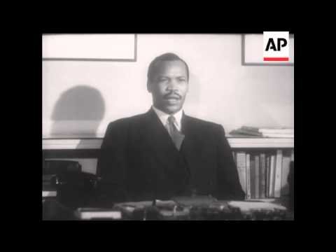SERETSE KHAMA TALKS TO MOVIETONE