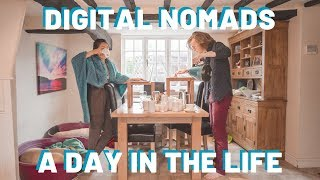 A Day In The Life Of A Digital Nomad Couple | Our England Routine