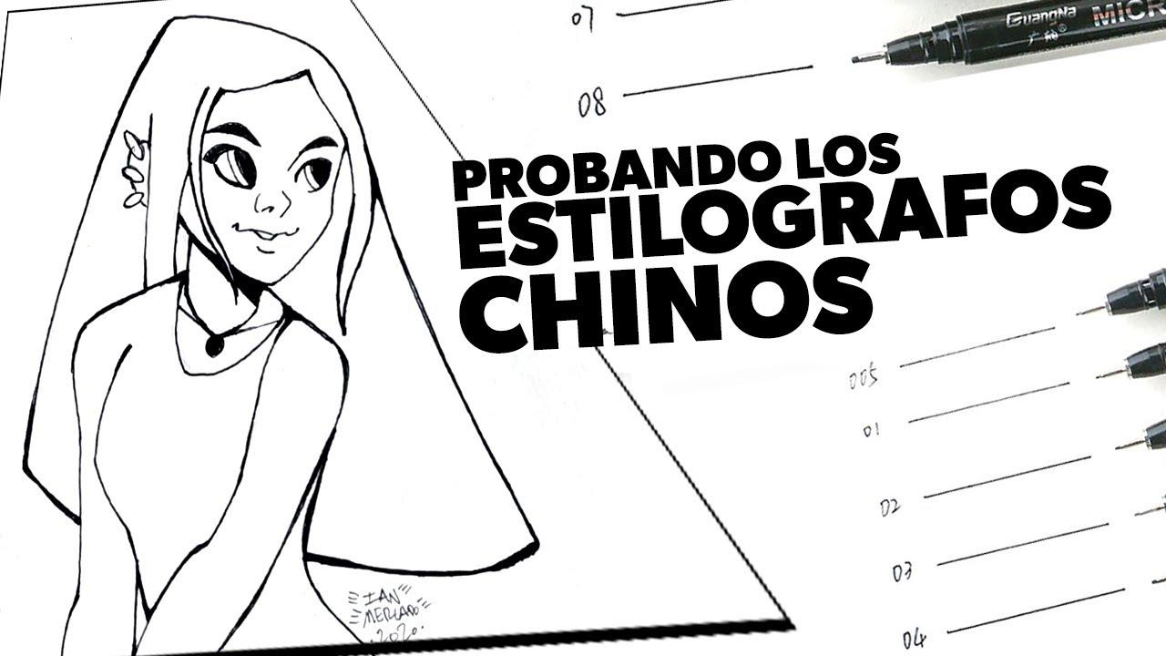 Usando los Estilografos Chinos con Acuarelas este es el ¡RESULTADO!