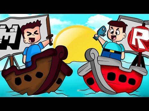 BARCO de MINECRAFT VS BARCO de ROBLOX ⛴️ BEBE MILO JUEGO TROLL thumbnail
