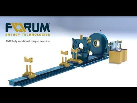 AMC fully rotational torque (RT) bucking machine