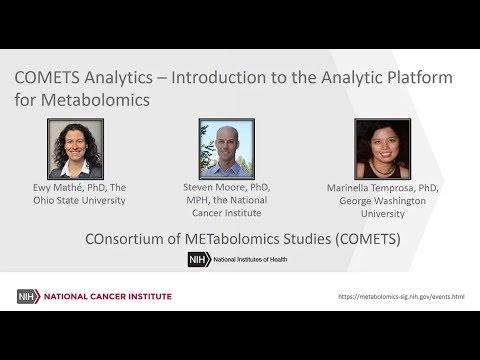 COMETS Analytics: An Introduction to the Analytic Platform for Metabolomics