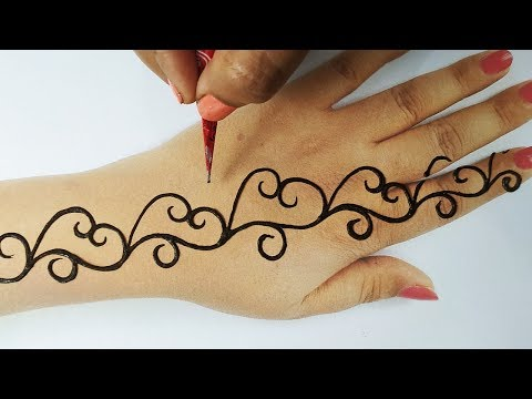 बहुत सरल शेडेड मेहँदी - आसान मेहँदी लगाना सीखे -  Easy Stylish Mehndi Design for Hands