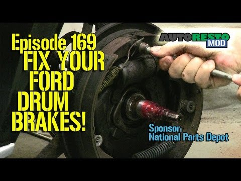 Part 1 Ford Front Drum Brake Diagnosis and Repair Episode 169 Autorestomod