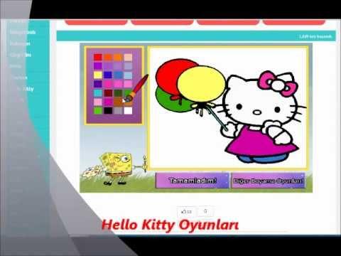 Hello Kitty Boyama Oyunları Wwwboyamaoyunlarigentr Youtube