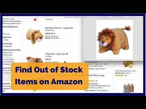 How to Find Out of Stock Items on Amazon - Find Sold Out Items on Amazon