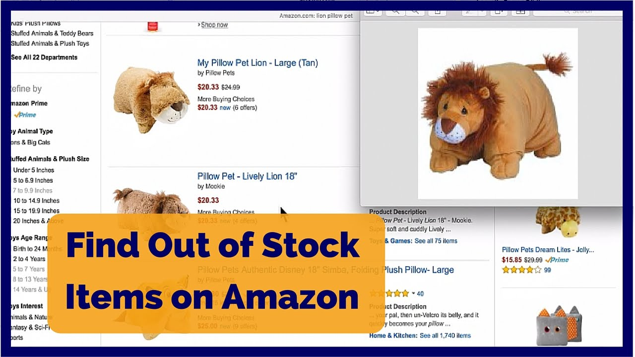 323e82fe4 How to Find Out of Stock Items on Amazon - Find Sold Out Items on ...