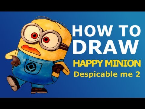 How to draw Bob minion from Minions easy step by step video lesson for ...