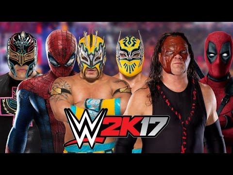 Rey Mysterio vs SpiderMan vs Kalisto vs Sin Cara vs Kane vs Deadpool    BATTLE ROYAL