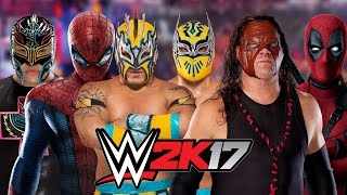 Rey Mysterio Vs SpiderMan Vs Kalisto Vs Sin Cara Vs Kane Vs Deadpool    BATTLE ROYAL