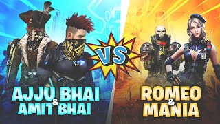 Ajjubhai94 and Amitbhai VS Romeo and X Mania Name Change Challenge - Garena Free Fire