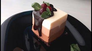 муссовое пирожное три шоколада