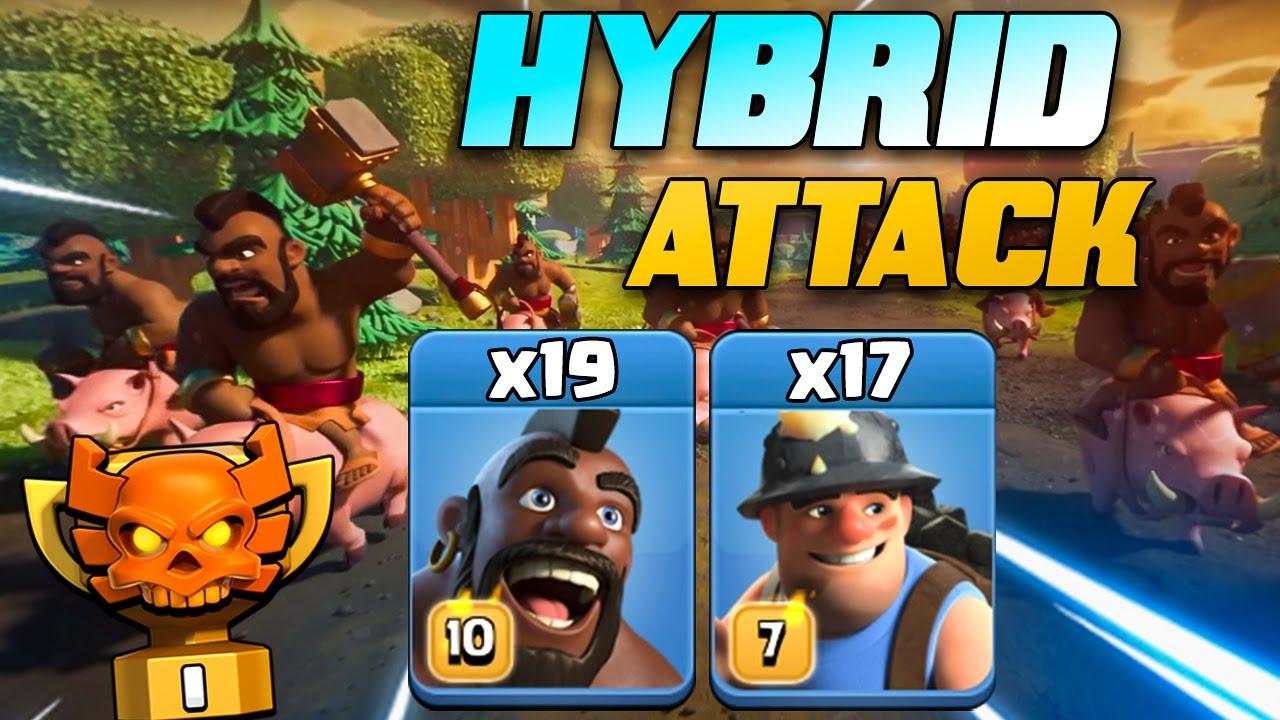 New Best TH13 Hog/Miner HYBRID BEST TH13 Attack Strategy | Strongest Army Smashing TH13 War Bases