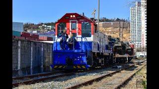 우암선 근거리 건설화물열차 #XXXX+DEL 4449호…