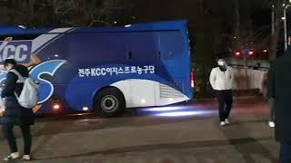 전주 KCC 이지스 구단버스 현대자동차 뉴 프리미엄 유…
