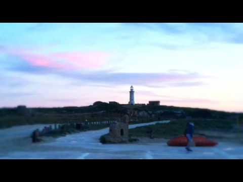 Pafos lighthouse sunset