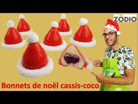 recette-dessert-de-noËl,-bonnets-cassis-coco-/-christmas-hats-blac