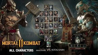 Mortal Kombat 11 All Characters Unlocked (Complete Roster) - MK11 Roster (All Playable Characters)