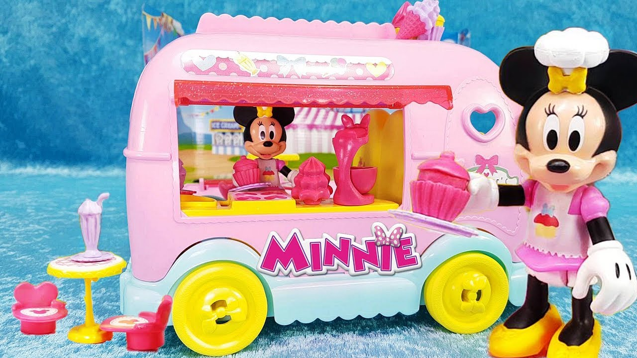 minnie s ice cream truck sweets and candy van minnie mouse playset