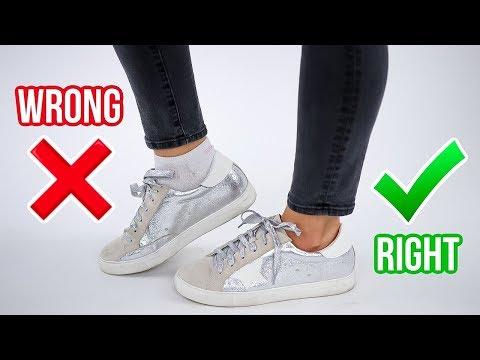 8 Ways You're Wearing Shoes WRONG! *how to fix*. https://aourl.me/s/76518n9