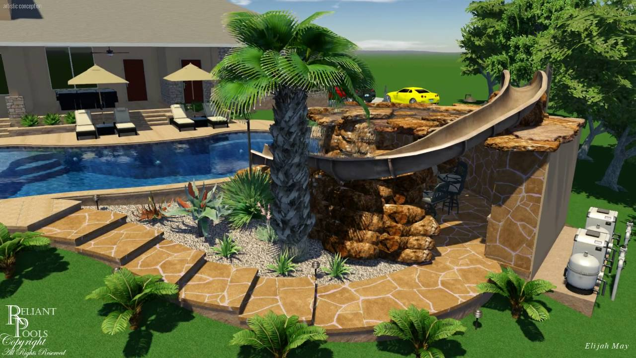 disney world at home resort style pool spa grotto youtube