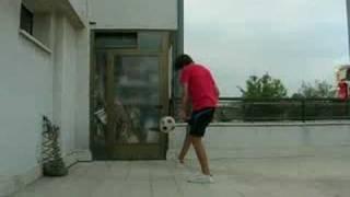 Nice soccer skills!