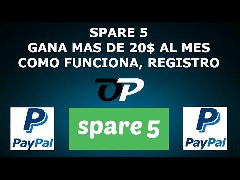 SPARE 5 GANA MAS DE 20$ AL MES,  COMO FUNCIONA, REGISTRO
