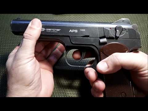 Gletcher Тюнинг пневматического пистолета АПС( стечкин)