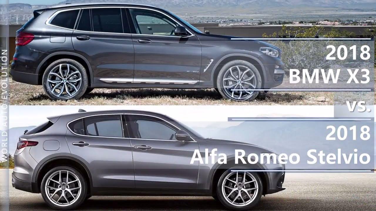 2018 bmw x3 vs 2018 alfa romeo stelvio (technical comparison) - youtube