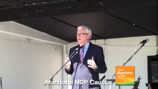 Aboriginal Day at the Manitoba Legislature: Premier Greg Selinger