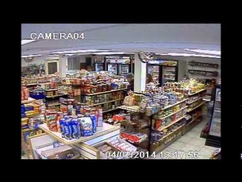 Group of criminals shoplifting