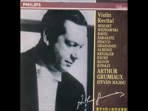 Grumiaux, Violin Recital