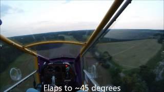 CGS Hawk landing on runway 09 at Wild Rose W23 WI